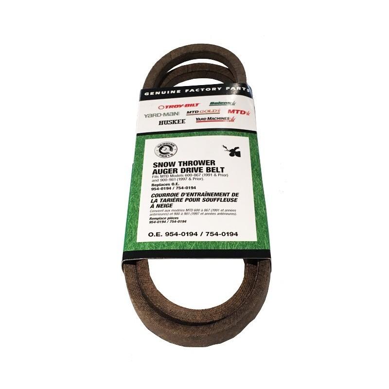 Auger belt Mtd 754-0194 754-0194 Belts